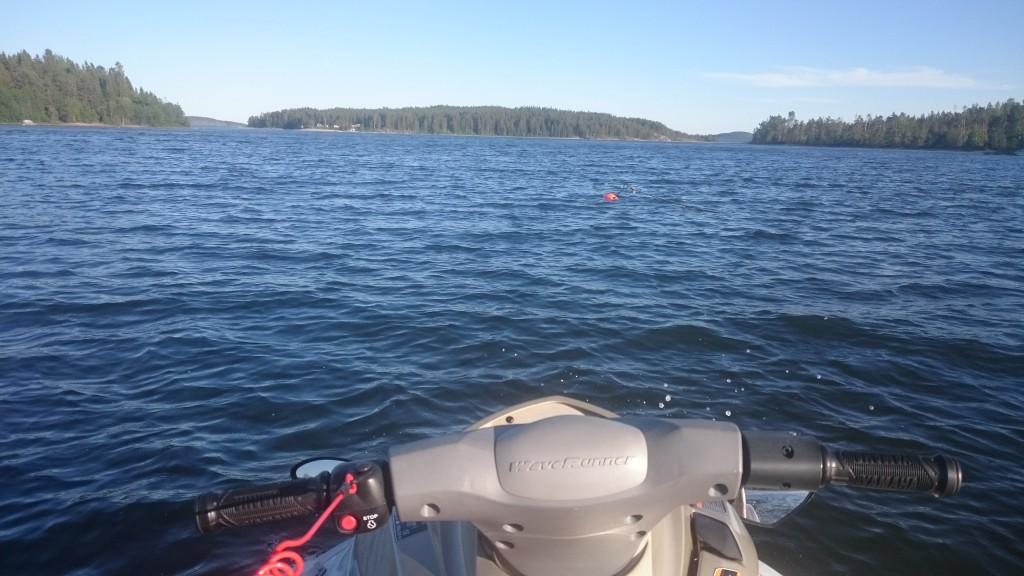 vattenskoter på sjön